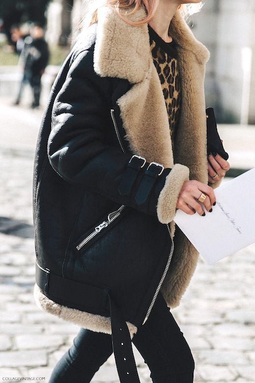 the coolest shearling lined coats of the season