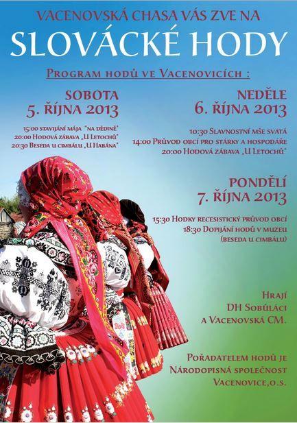 Kyjov folk costum; Vacenovice - hody 2013