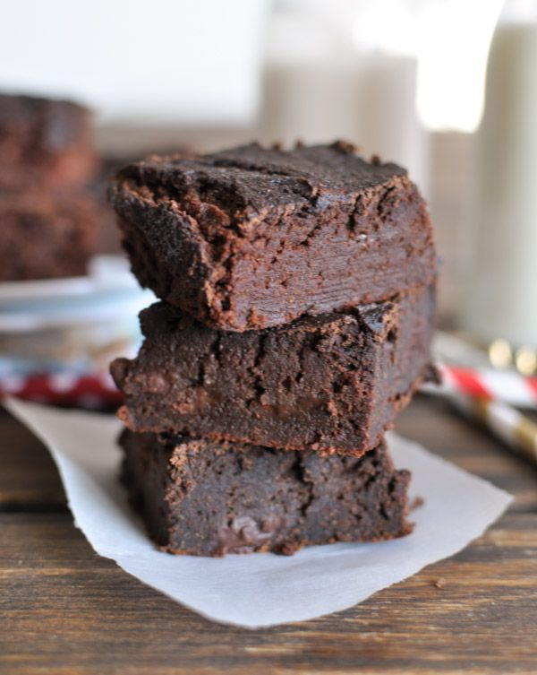 These healthy low calorie Nut Free Brownies are made with a secret ingredient that makes them super moist and delicious.  They are also gluten free, grain free, and paleo friendly.