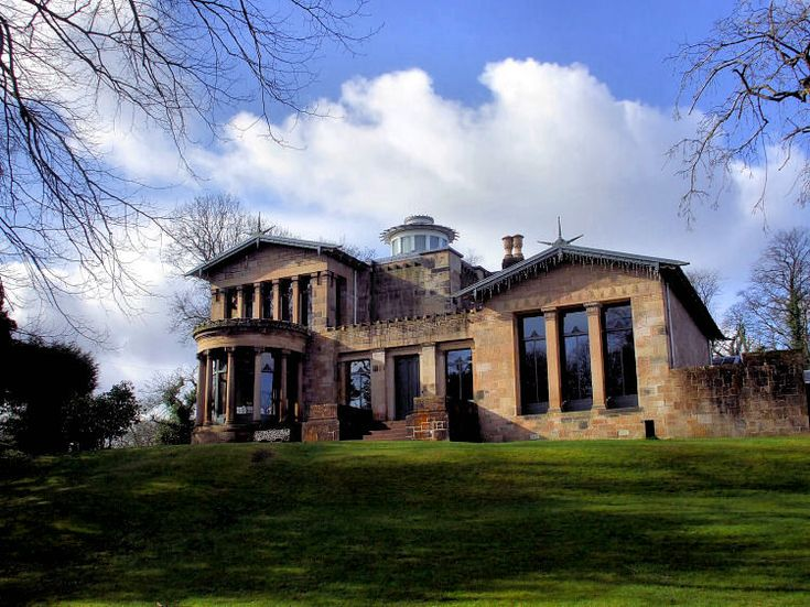 HOLMWOOD HOUSE, CATHCART, GLASGOW // ALEXANDER THOMSON // 1857-1858 --- Greek revival style. Masonry construction. Arguably the finest and most elaborate residential villa designed by Thomson.