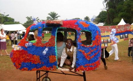 Recycled Amusement: A Ugandan Playground of Water Bottles - Cities - GOOD