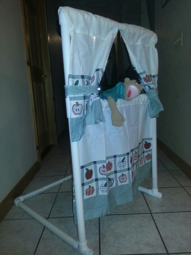 how to make a puppet stage out of pvc pipe
