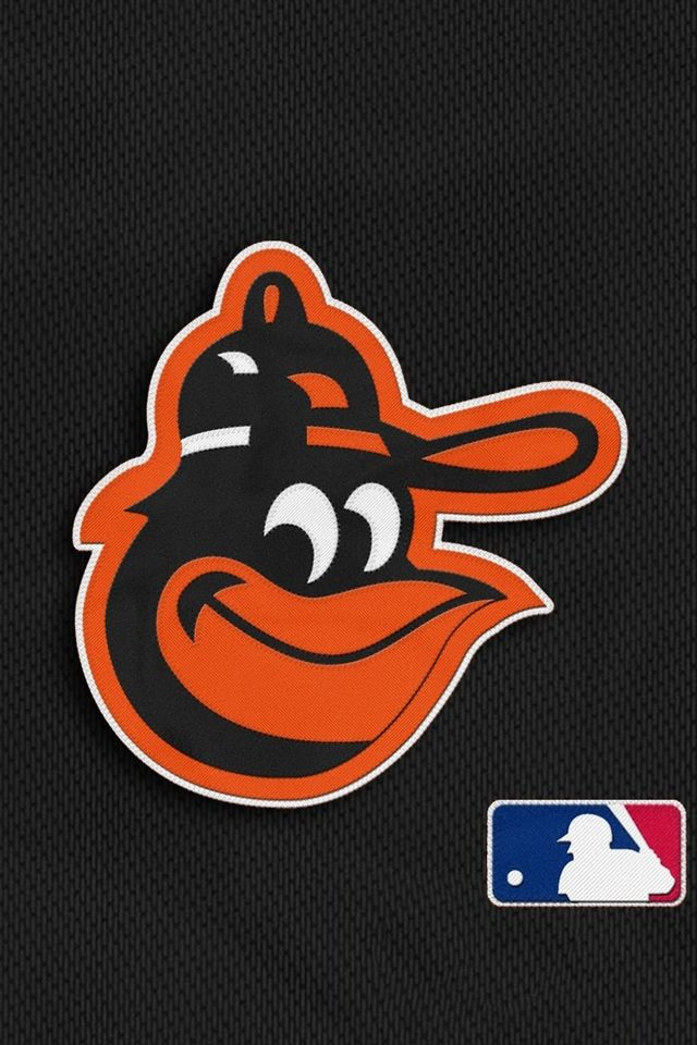 Baltimore Orioles With Mlb Logo Background For Iphone 4 With Regard To Baltimore Orioles Phone Wallpapers Jpg 640 9 Mlb Logos Logo Background Baltimore Orioles
