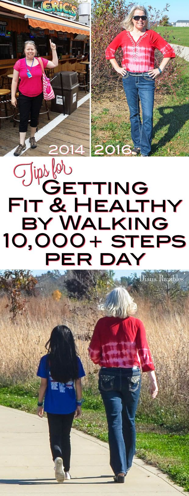 TIps for Getting Fit and Healthy by Walking 10,000 Steps per Day - Lose weight, look great, feel good, and get endless energy! AD #V8Mornings @walmart @V8