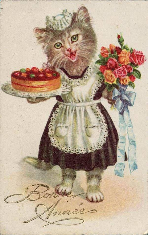 старинные открытки ко дню рождения вязаной