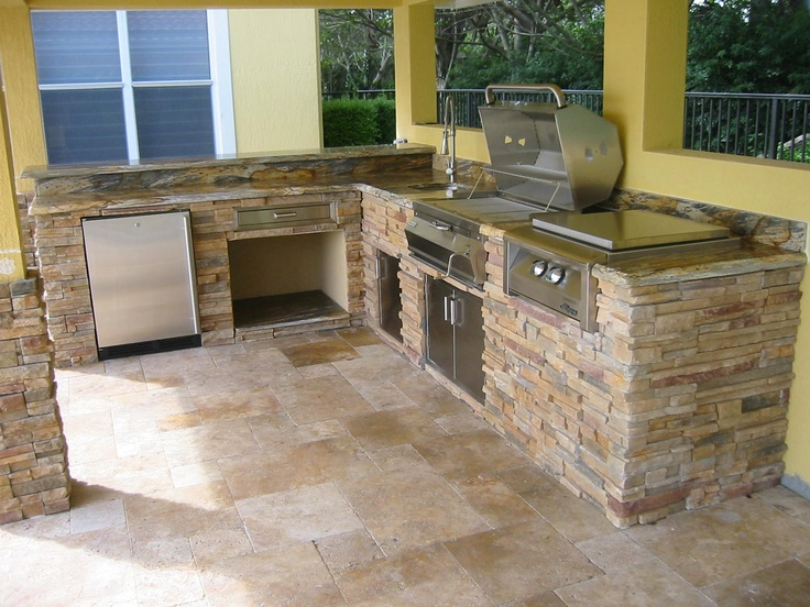 75 best images about outdoor kitchens on pinterest toll for Stone outdoor kitchen designs