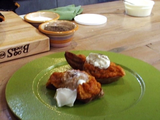 Twice-Baked Sweet Potatoes from FoodNetwork.com