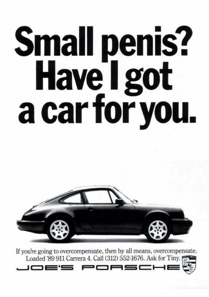 Funny Vintage 1989 Porsche 911 Ad