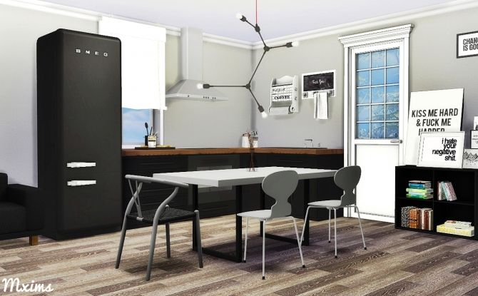 Scandinavian Dining Room at MXIMS • Sims 4 Updates