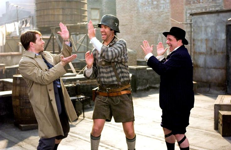 THE PRODUCERS, Mathew Broderick, Will Ferrell, Nathan Lane, 2005 | Essential Films Stars, Nathan Lane http://gay-themed-films.com/nathan-lane