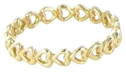 PANDORA Pandora 14k Gold Linked Love Hearts Ring 7 150177-54