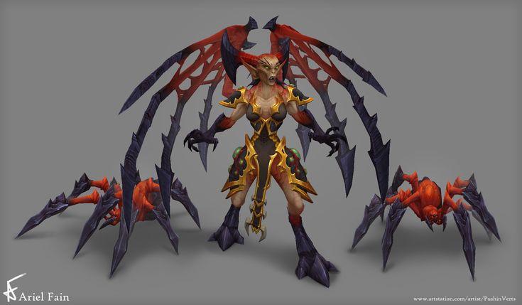 ArtStation - Legion - Brood Mother & Spider, Ariel Fain