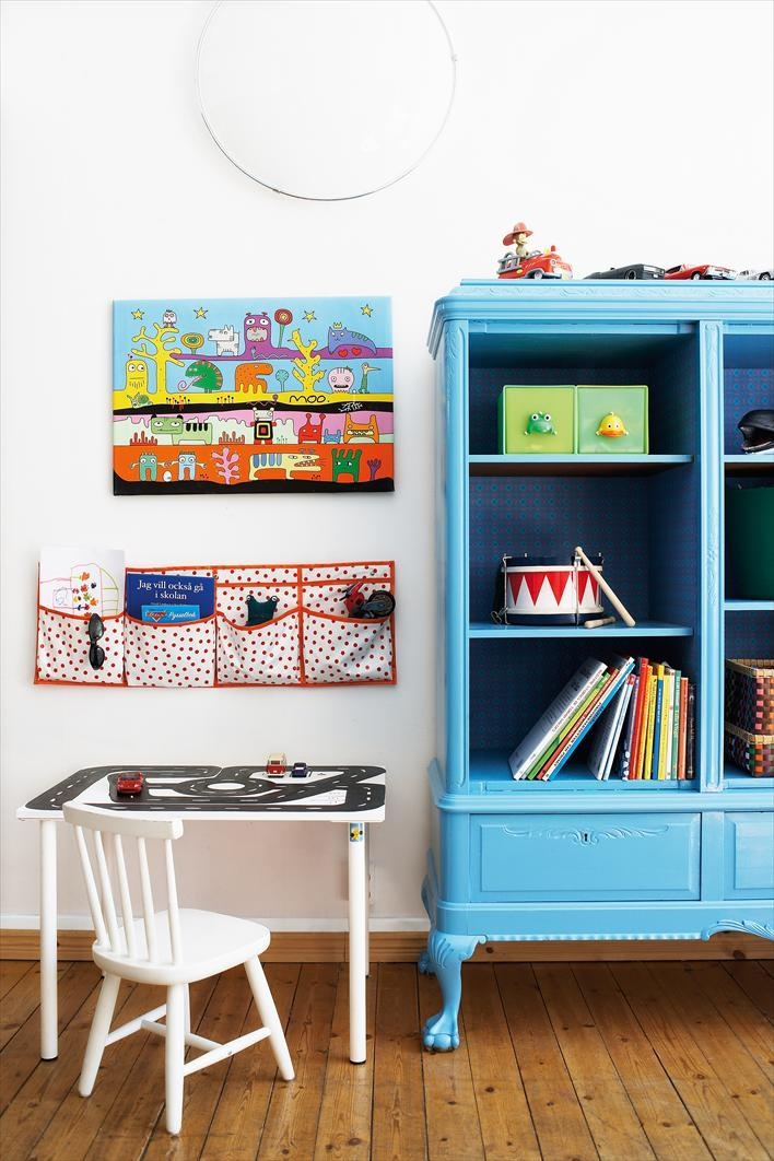 : Paintings Furniture, Blue Cabinets, Vintage Wardrobes, The Doors, Children Rooms, Wardrobe, Wall Pockets, Storage Ideas, Kids Rooms