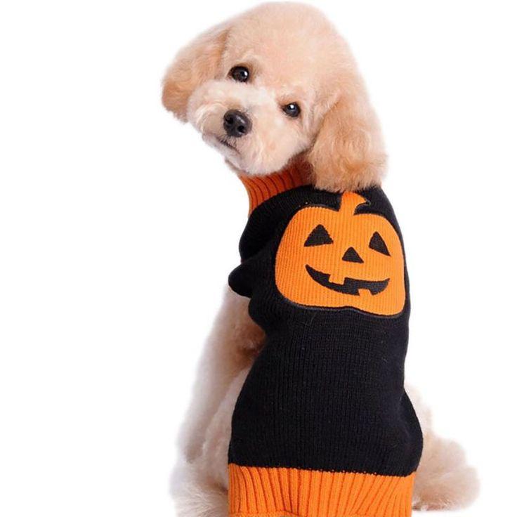 Halloween Pompoen Patroon Hond Trui Gebreide Truien Voor Honden Puppy Herfst/Winter Kleding Levert  2xl