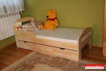 Tortuga łóżko sosnowe z szufladą dla dzieci, z materacem piankowym