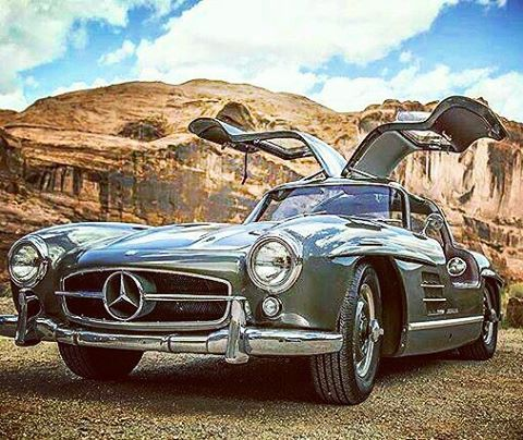 Flying through the Rockies.  This 300 SL Gullwing is making its way across Colorado in the thousand-mile Colorado Grand road rally.  #300SL #Gullwing #Mercedes #Benz #classiccars @mbclassiccenter 📷: @mbusa