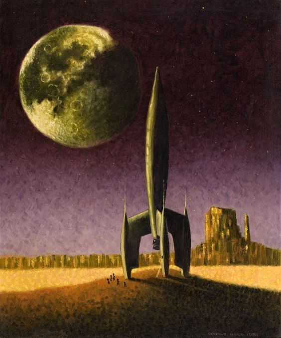512 best images about retro futurism sci fi art books for Retro outer space