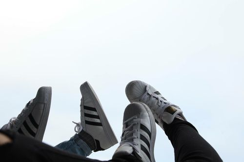 adidas, aesthetic, and Blanc image