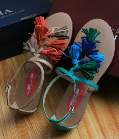 Buckle handmade sandals clip toe shoes - US$ 33.19