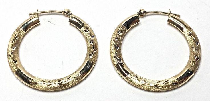 9 best Gold Hoop Earrings images on Pinterest