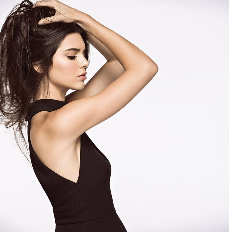 Kendall Jenner models a look from her latest collection with Ever New