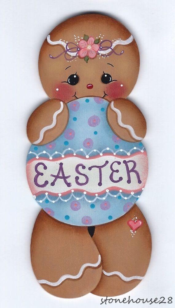 HP GINGERBREAD Easter FRIDGE MAGNET #Handpainted