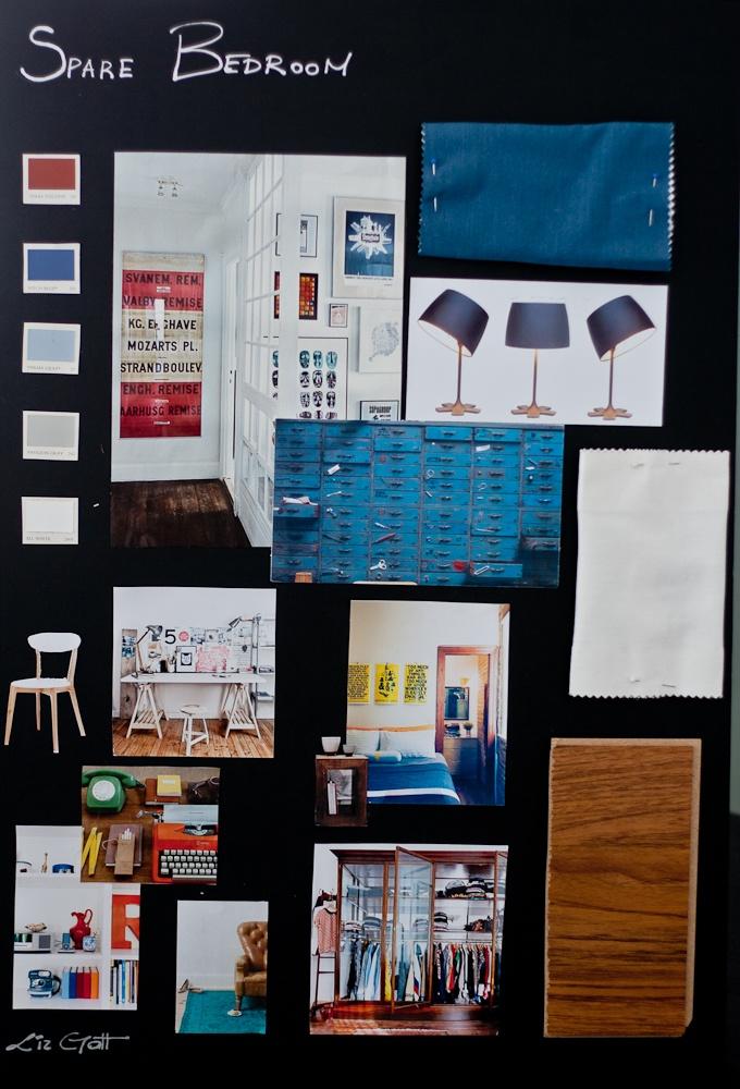 Spare bedroom sample board_Mcast Interior design course_ June 2012