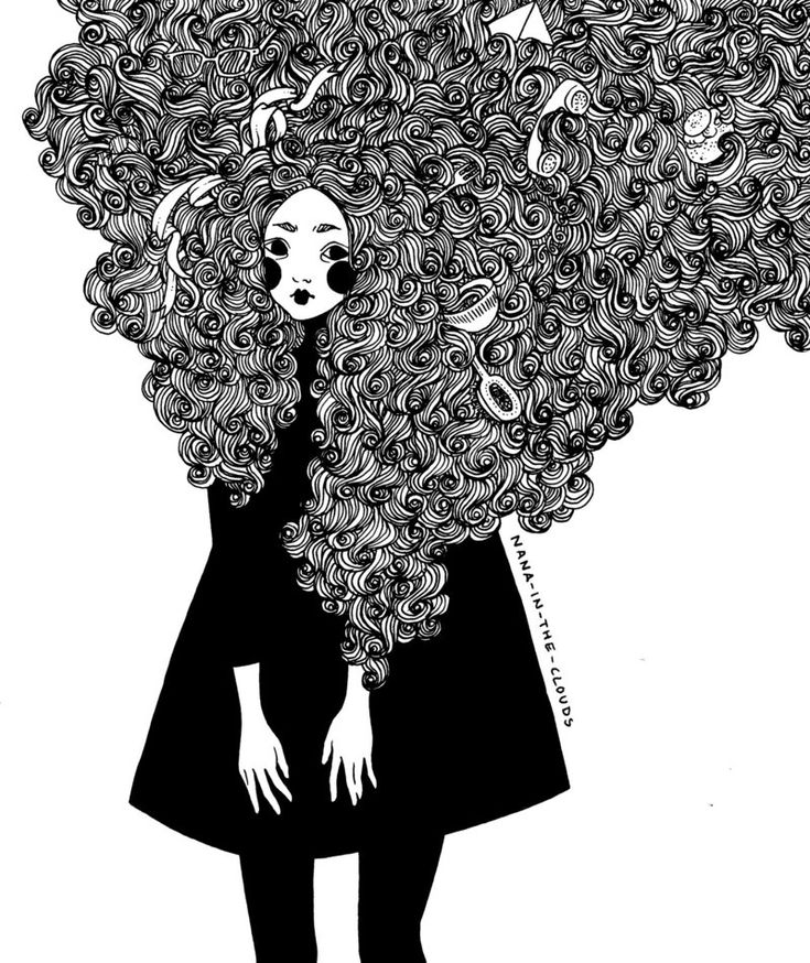 My hair is a mess by Nana-in-the-clouds