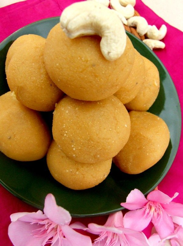 Something that I like about Besan ke laddoo is the way it melts in your  mouth.  Recipe at: http://thetastesofindia.com/besan-ke-laddoo/