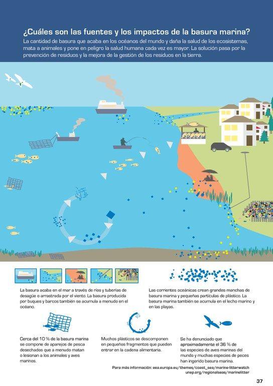 La cantidad de basura que acaba en los océanos del mundo y daña la salud de los ecosistemas, mata a animales y pone en peligro la salud humana cada vez es mayor. La solución pasa por la prevención de residuos y la mejora de la gestión de los residuos en la tierra.