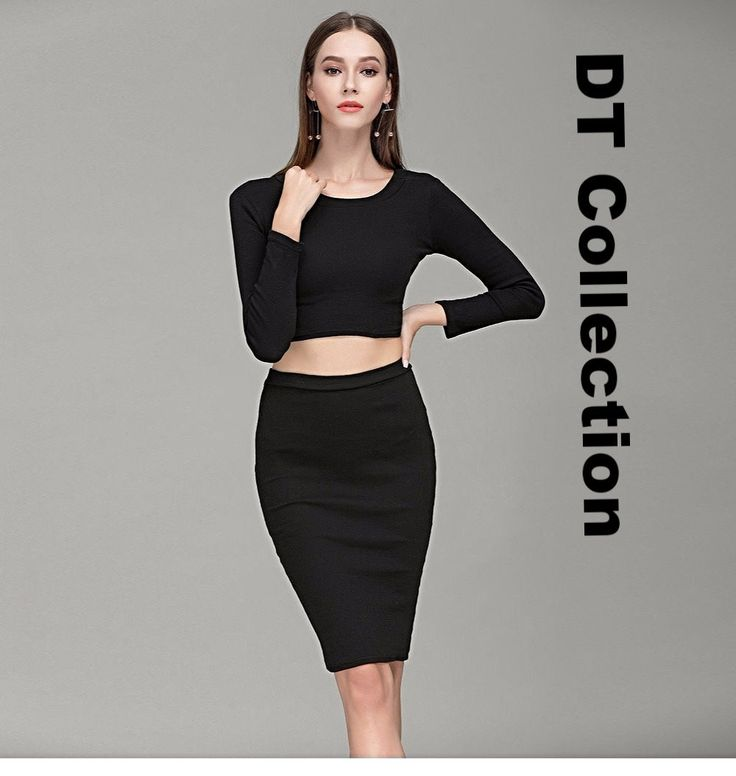$24.99 Women's Winter 2 Piece Set Long Sleeve Top with Skirt 50% OFF + FREE Shipping
