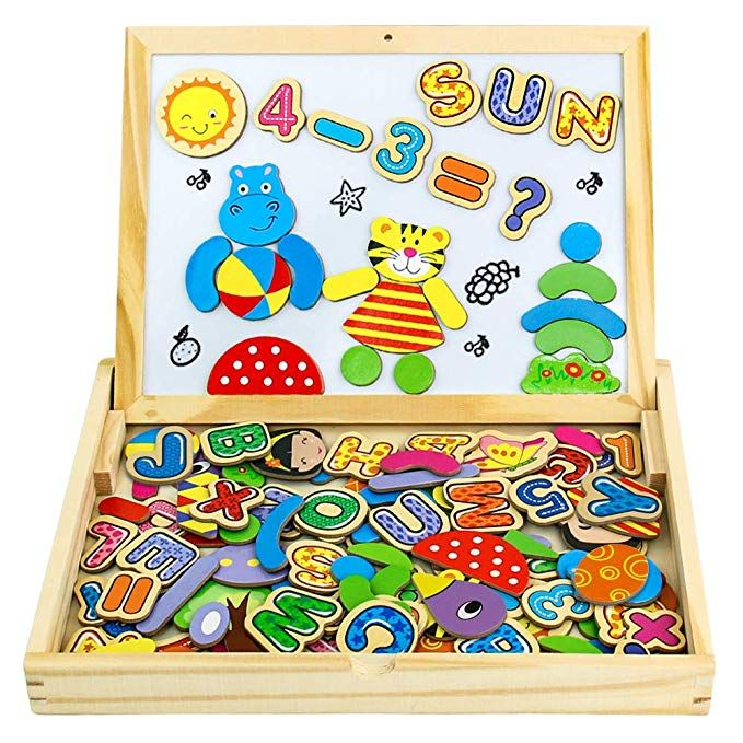 Padagogisches Holzspielzeug 90 Stuck Magnetische Holzpuzzle Lernspielzeug Kuhlschrank Dekoration Montess In 2020 Holzspielzeug Montessori Spielzeug Geschenke Fur Jungs