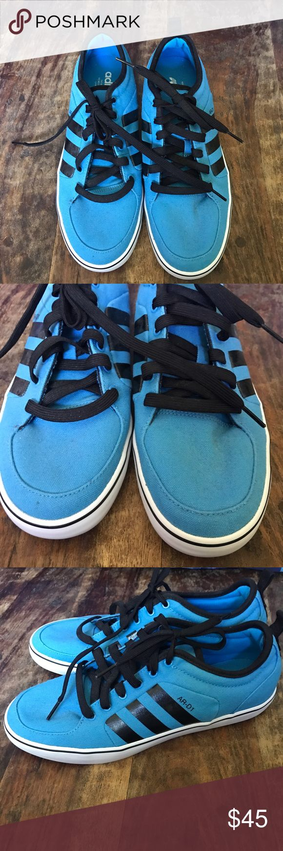 Adidas Men's Shoes Blue and black canvas Adidas shoes in excellent condition and super clean. adidas Shoes Sneakers