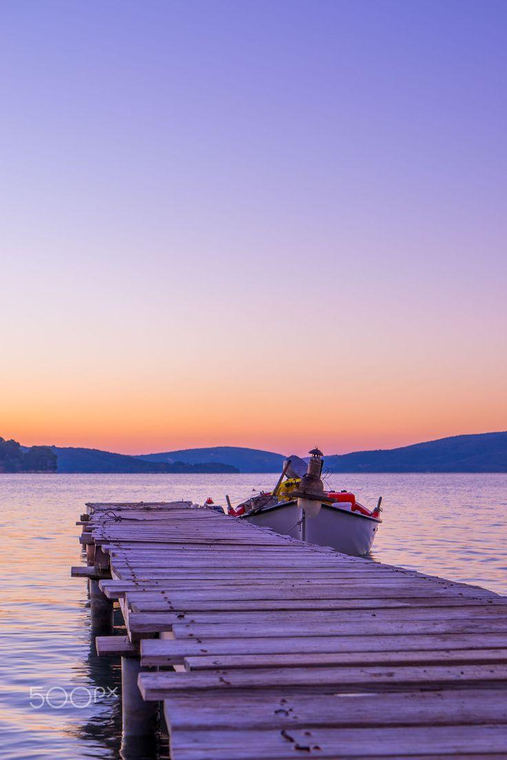 Sunrise on Nidri bay, Lefkada, Greece