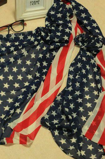 Женский Шарф в виде Американского флага