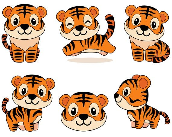 Cute Little Tiger Png Cartoon Tiger Free Png Images Kartun