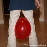 Wettrennen mit Luftballons