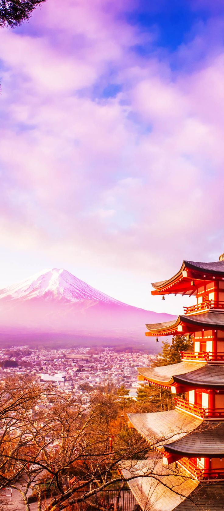 Mount Fuji at Kawakuchiko lake in Japan | Amazing Photography Of Cities and Famous Landmarks From Around The World