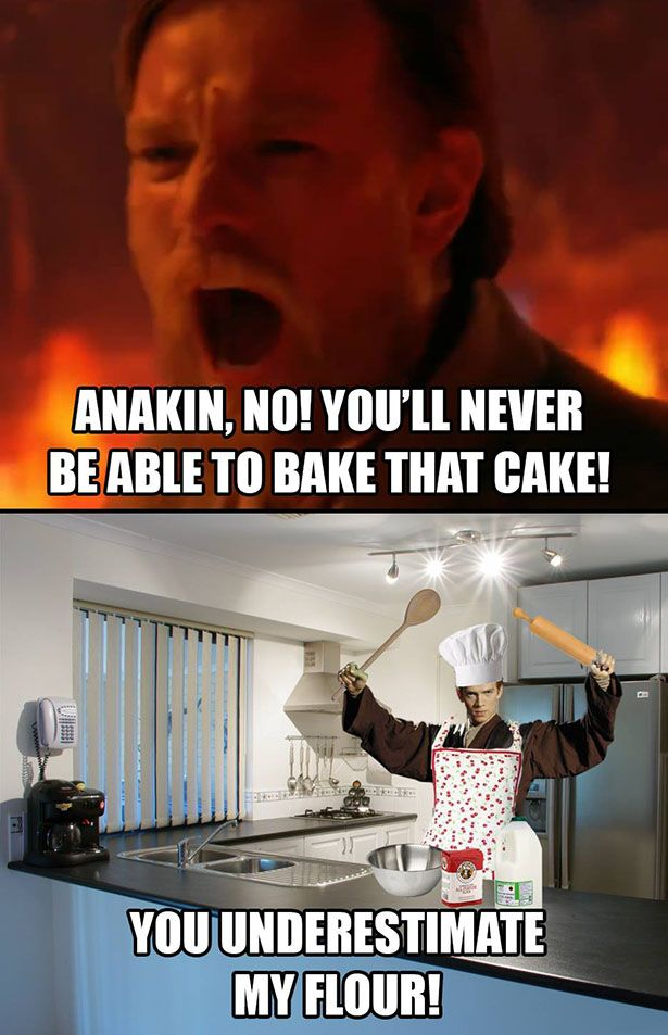 YOU UNDERESTIMATE MY FLOUR!<--------I love these memes so much.
