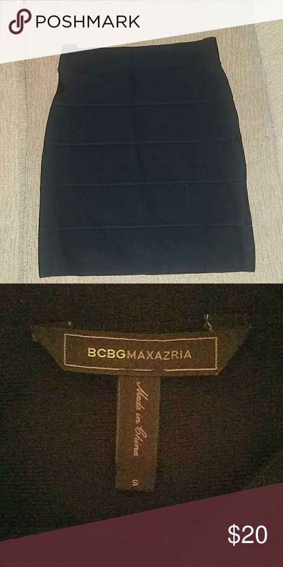 BCBG MACAZRIA BLACK BANDEAU SKIRT Never worn beautiful bandeau skirt Size Small BCBGMaxAzria Skirts Mini