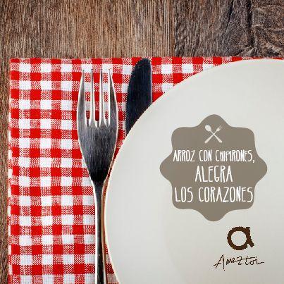 Arroz con chipirones, alegra los corazones. #RefranesAmeztoi #comidacasera #refranes