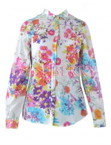 Flower Print Shirt - Just Arrived - Imbracaminte