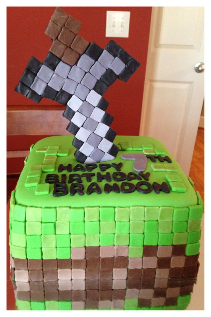 Minecraft Sword Cake Images : Minecraft cake with sword things I ve made Pinterest