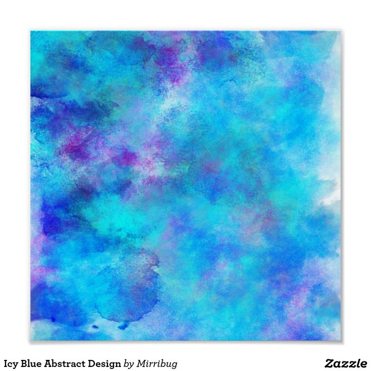 Icy Blue Abstract Design Poster