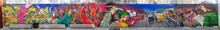 Museo de arte contemporáneo Gabriela Mistral, Saile y Fisek en un laburo que hicimos para Super8
