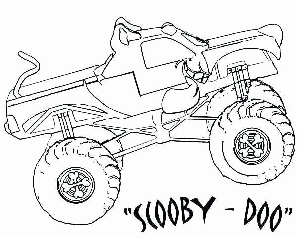 Monster Truck Coloring Pictures Lovely Mail Truck Coloring Page