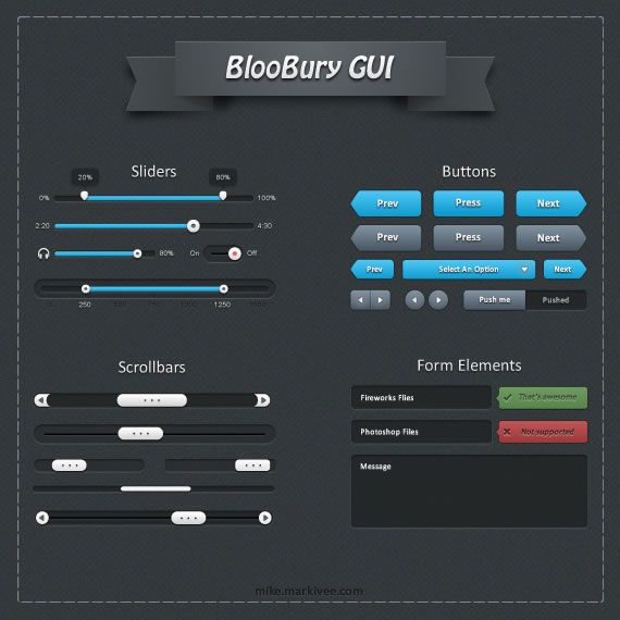 BlooBury free UI kit