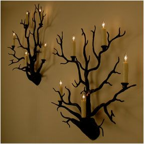 Black coral  wall lights