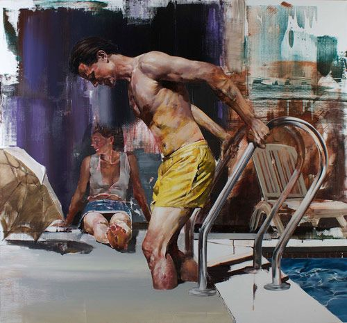 Dan Voinea creating concrete subject matter.