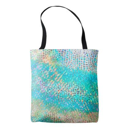faux holographic animal print tote bag - patterns pattern special unique design gift idea diy
